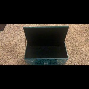 Storage & Organization - teal desk organizer/ jewelry holder